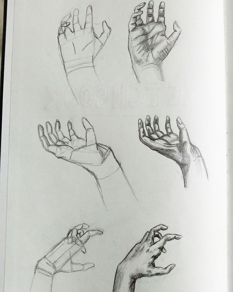More hand anatomy sketches