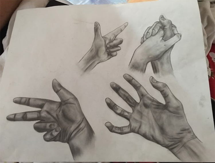 Detailed hand drawings realism