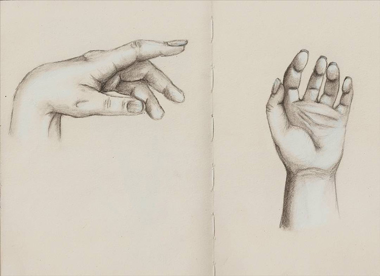 Simple hand drawing practice