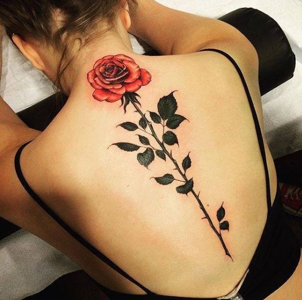 Tattoos For Girls On Spine