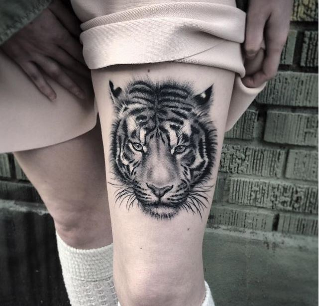 Tiger Tattoos For Girl