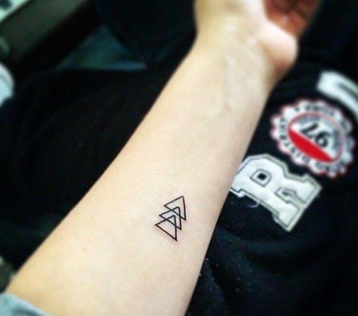 Small Triangle Tattoos For Men