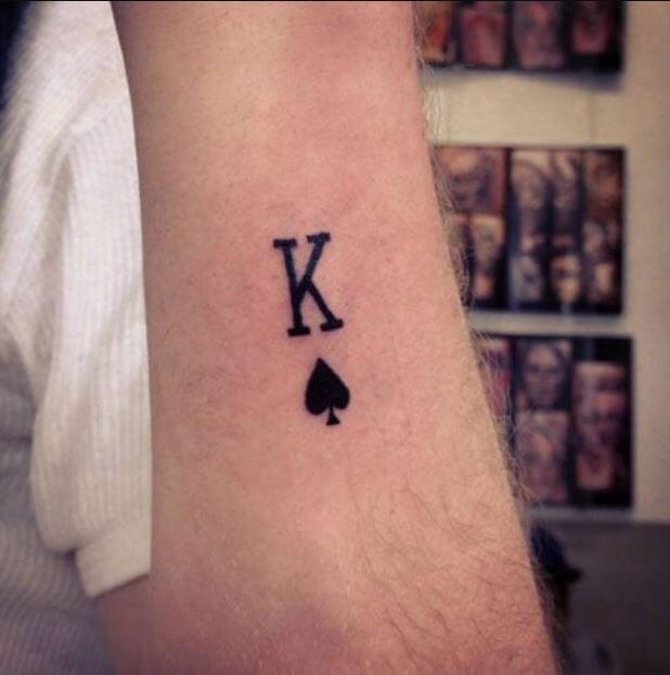 King Small Tattoos For Men