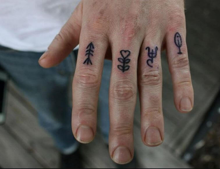 Small Finger Tattoos For Men
