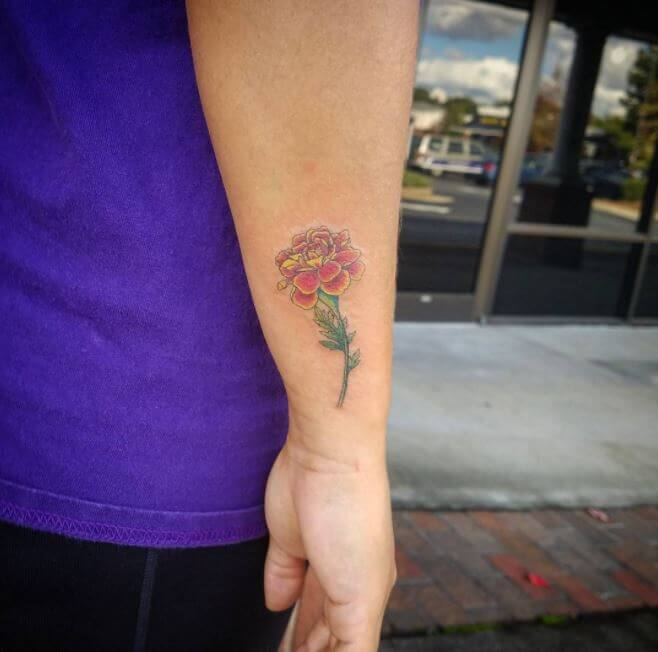 Small Flower Tattoos For Men