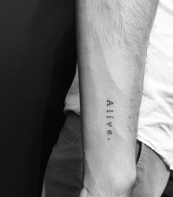 Small Tattoos For Men On Arm Designs
