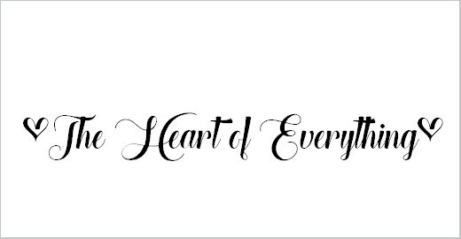 The Heart of Everything Demo Font