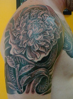 shoulder-tattoos-men-chrysanthemum