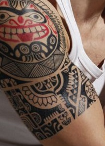 shoulder-tattoos-men-tribal-native