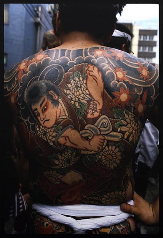 traditional samurai back tattoo