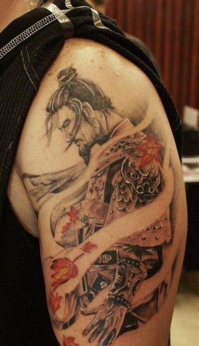 Lonely Samurai Tattoo