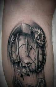 Melting Clock Tattoo Meaning 5