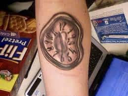 Melting Clock Tattoo Meaning 7