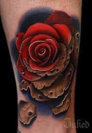 Dying Rose Tattoo 6