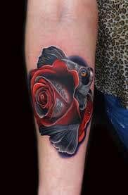 Dying Rose Tattoo 8