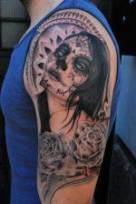 Тату муэрто – Тату в стиле Санта Муэрто, значение, фото, татуировки санта муэрто (Santa Muerte)