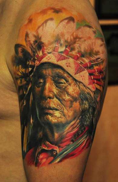 Tattoo, значение тату : Индеец
