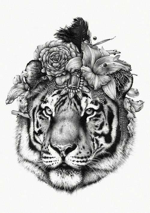 Черно белые тату для всех, значение фото и эскизы