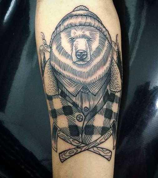 Значение тату медведь: все значения татуировок с медведями | 570x505